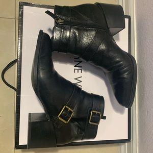Nine West Black Leather Statement Boots
